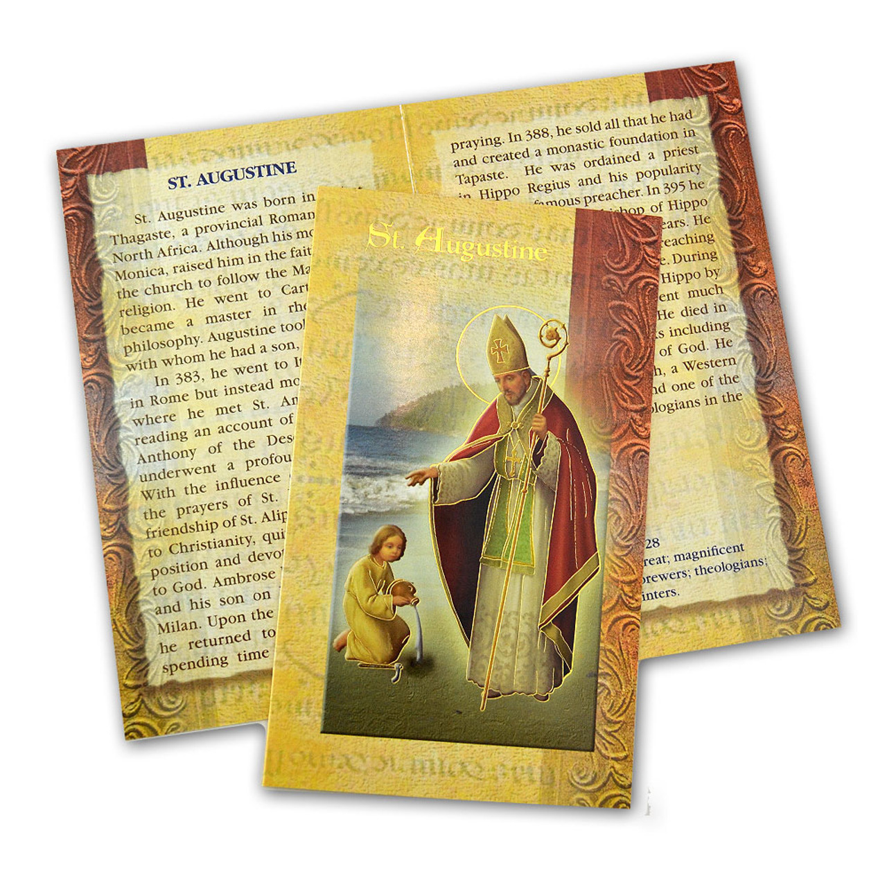 St. Augustine Folded Holy Card