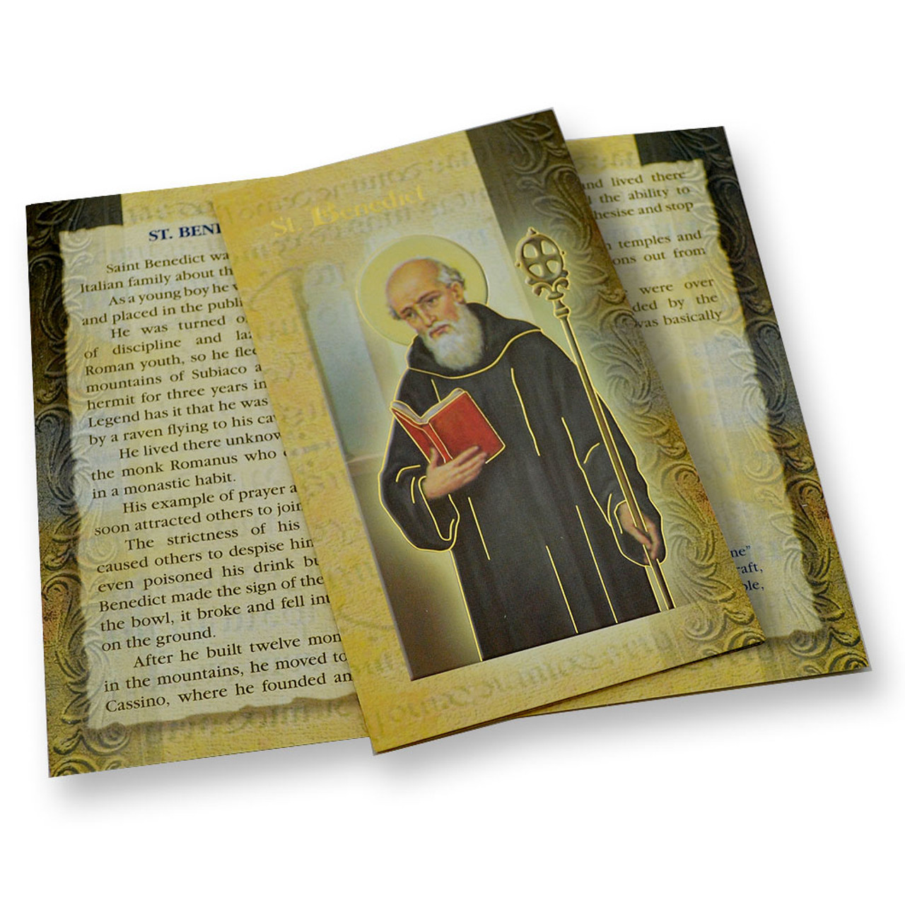 St. Benedict Folded Holy Card