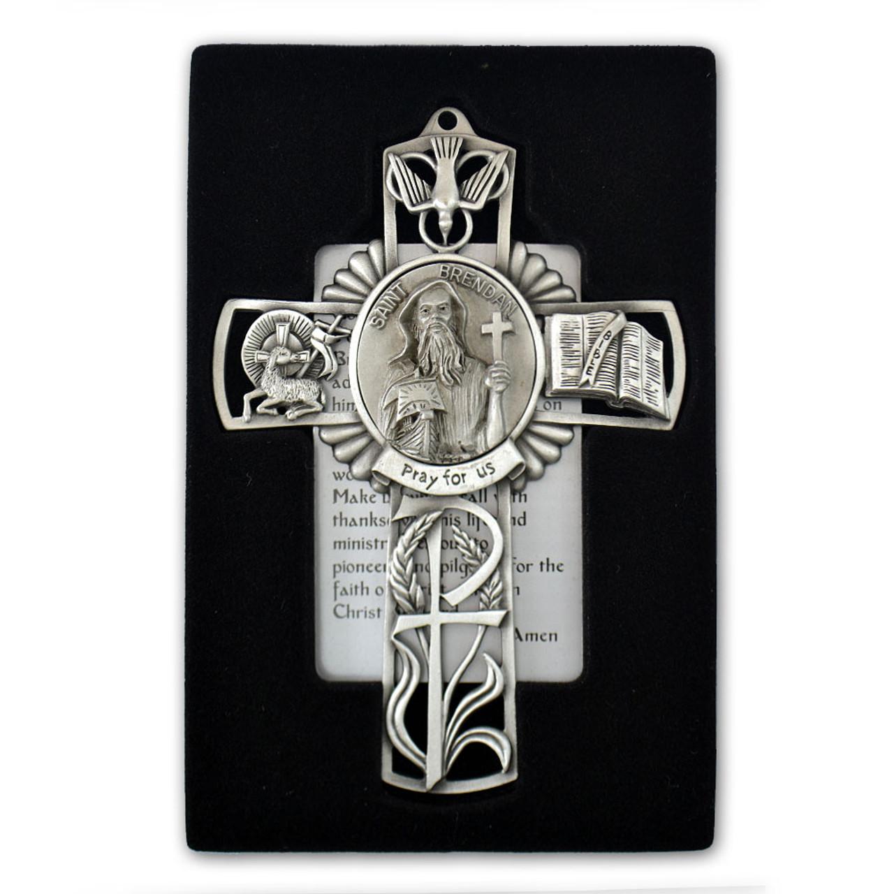 St Brendan Pewter Cross