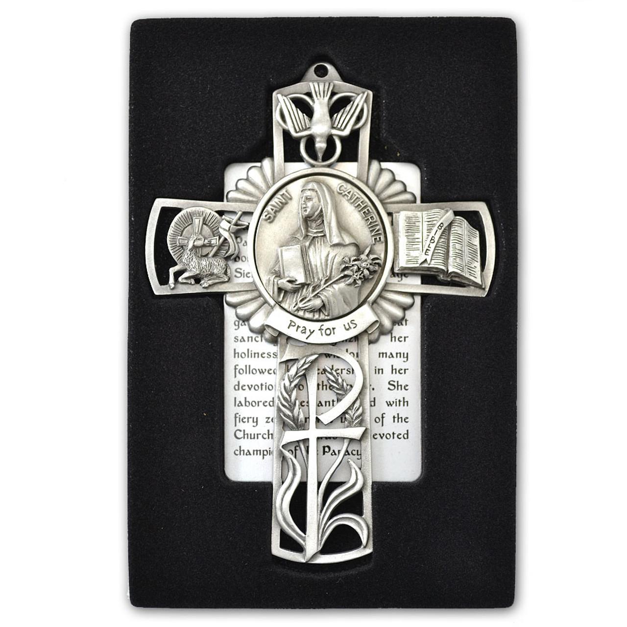 St Catherine Pewter Cross