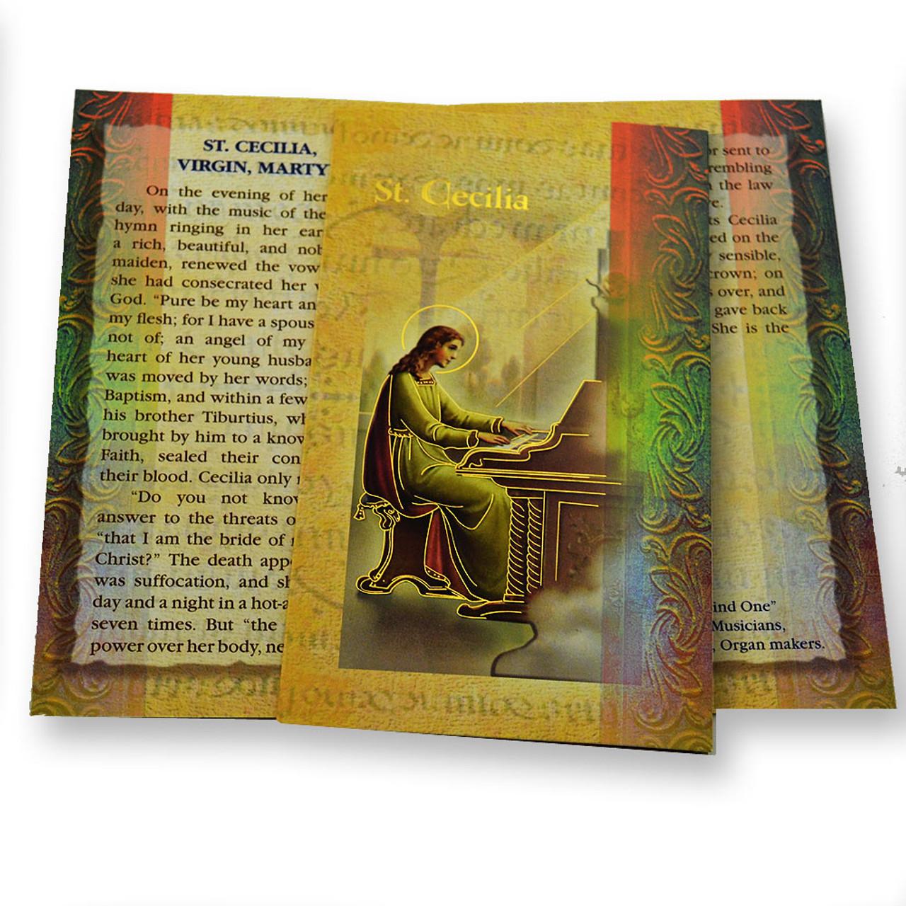 St. Cecilia Folded Holy Card