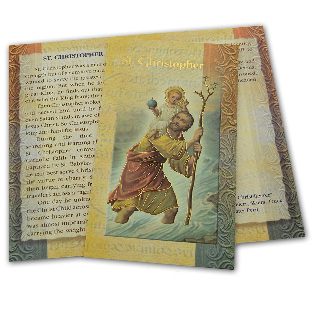 St. Christopher Laminated Holy Card