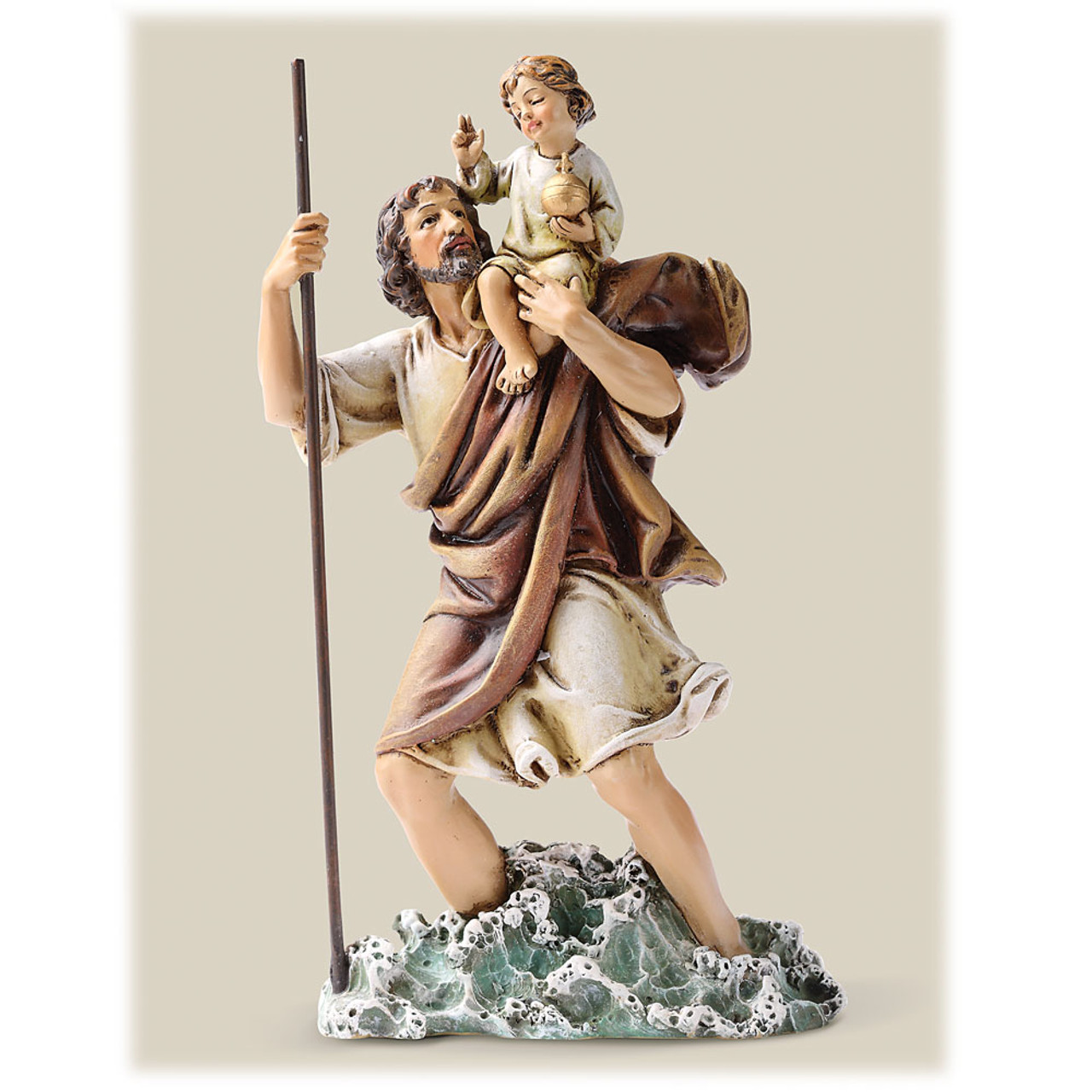 """6-1/4""""H St. Christopher Statue"""