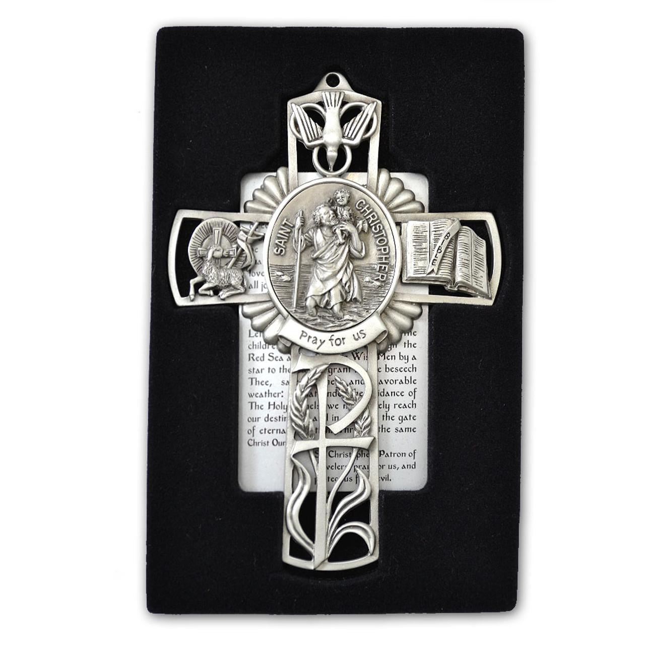 St Christopher Pewter Cross