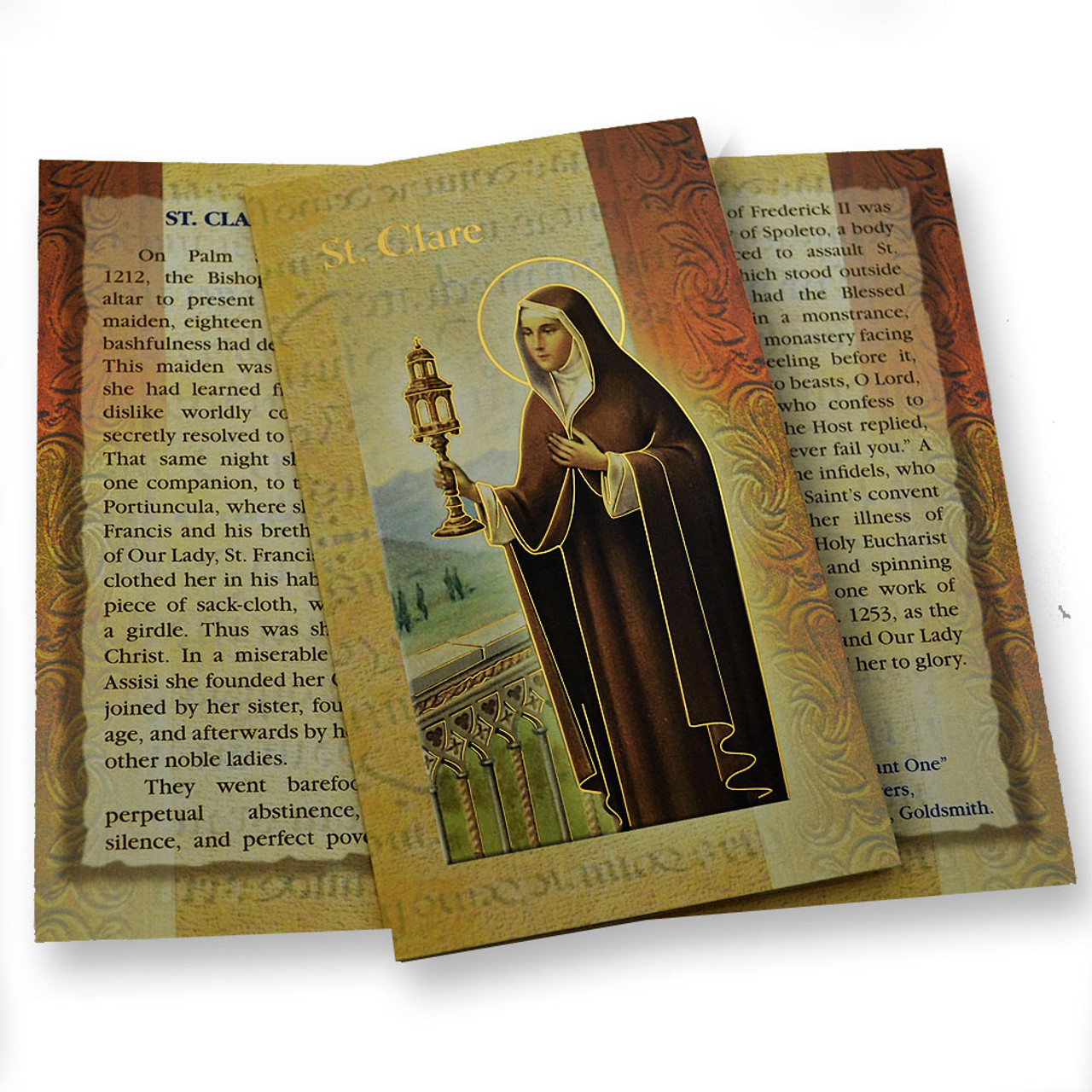 St. Claire Folded Holy Card