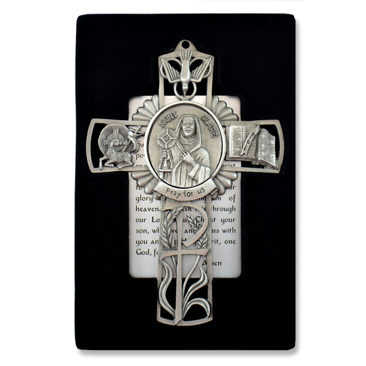 St Clare Pewter Cross