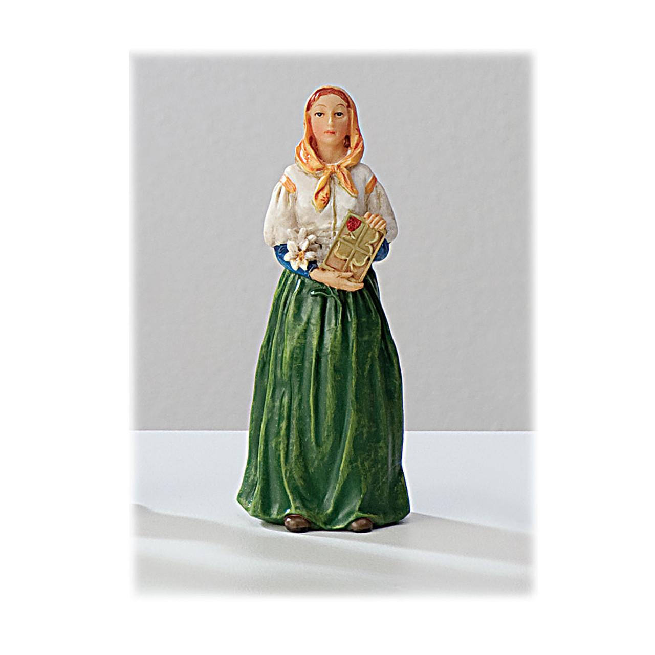 St Dymphna 4 Inch Resin Statue
