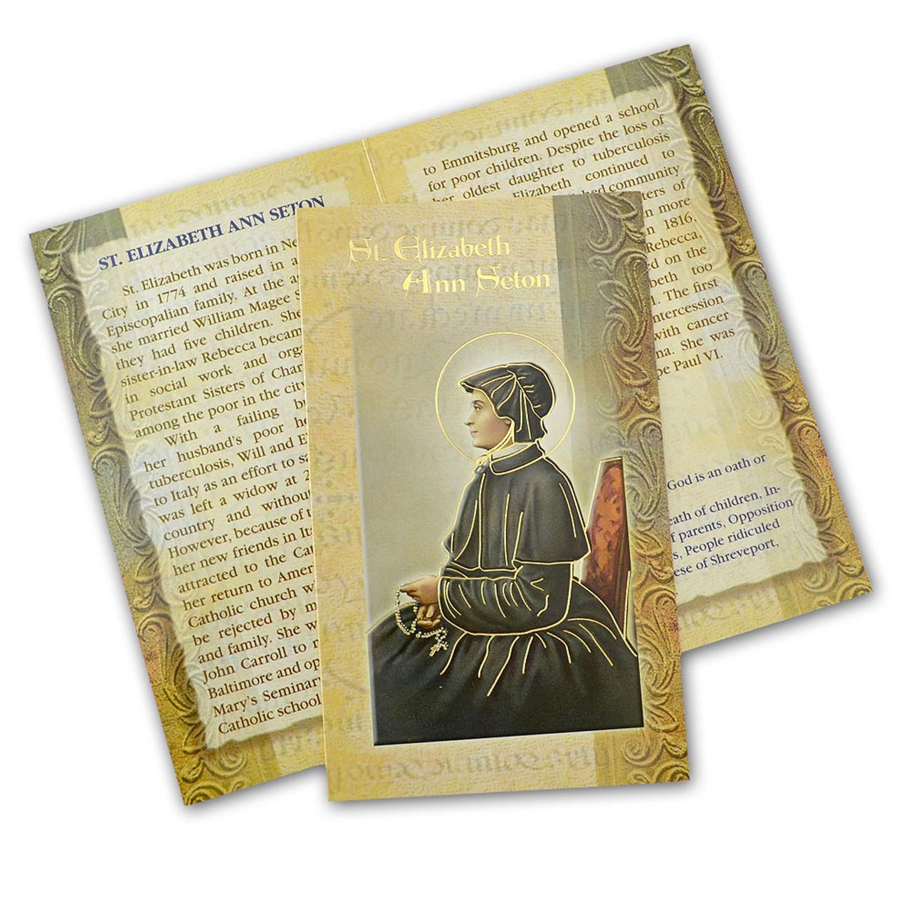 St. Elizabeth Ann Seton Folded Holy Card