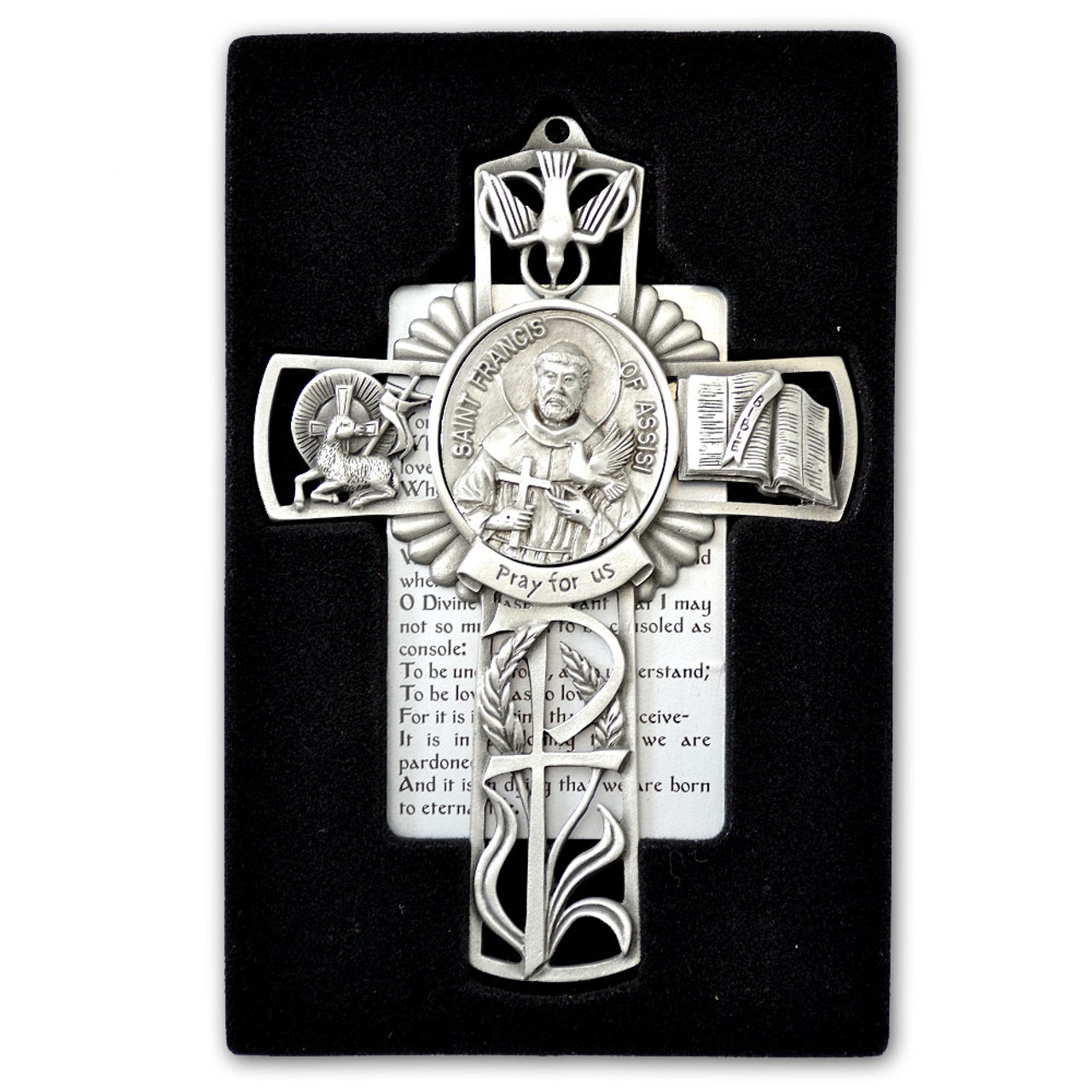 St Francis Pewter Cross