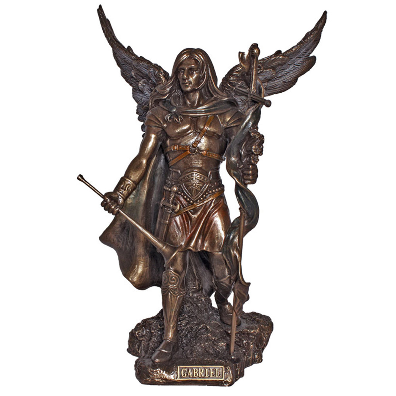 Gabriel Cold Cast Bronze 9IN Hand Painted