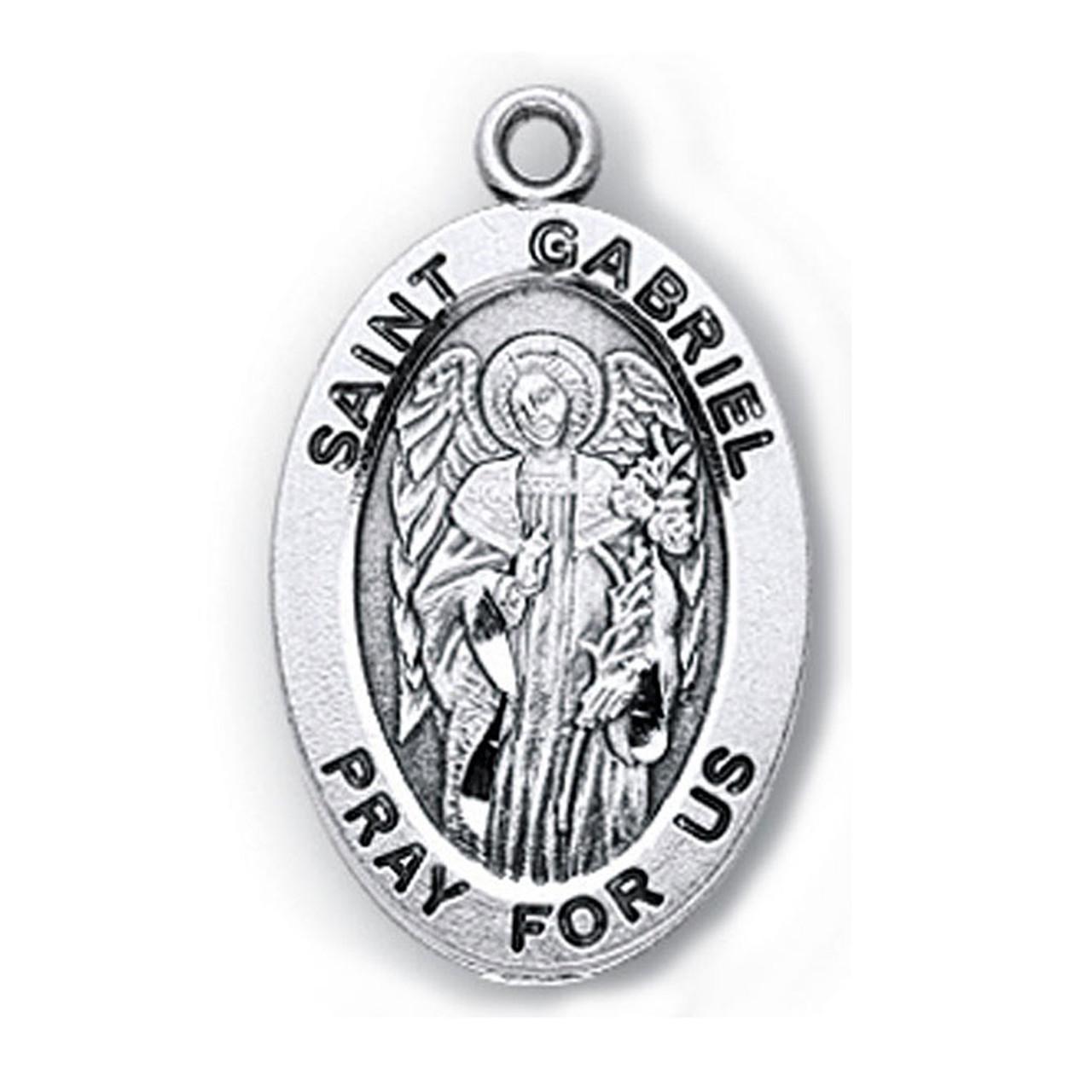 Sterling Silver St. Gabriel Medal
