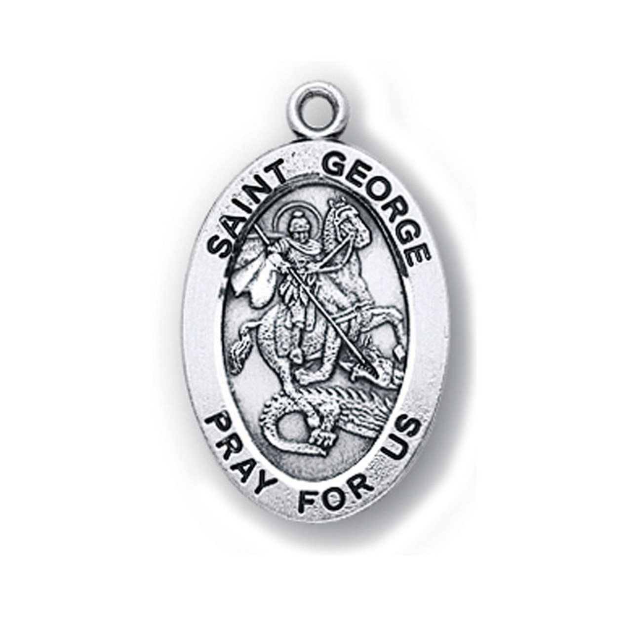 Small St. George Medal Necklace