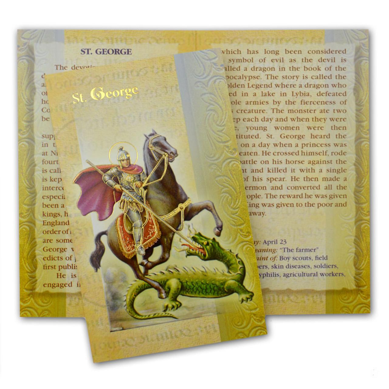St. George Folded Holy Card