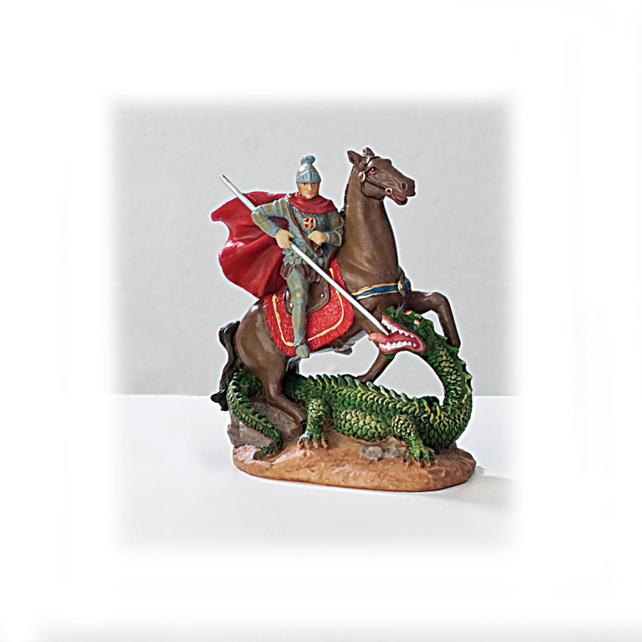 St George 4 Inch Resin Statue