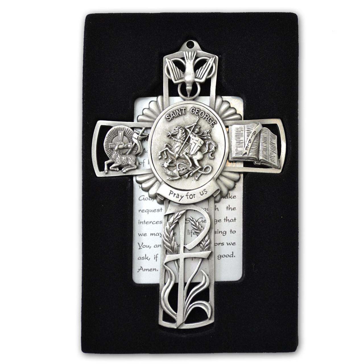 St George Pewter Cross