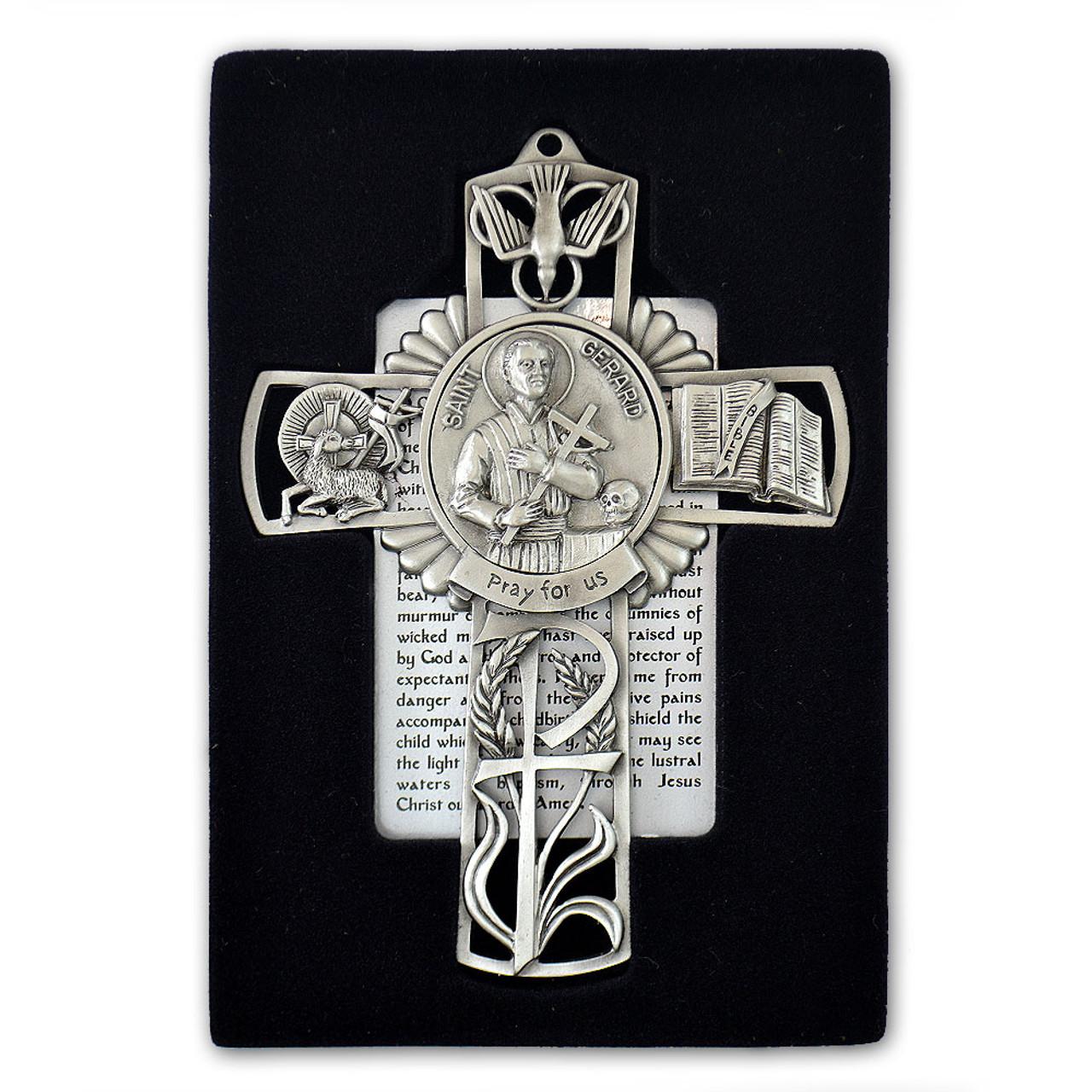 St Gerard Pewter Cross