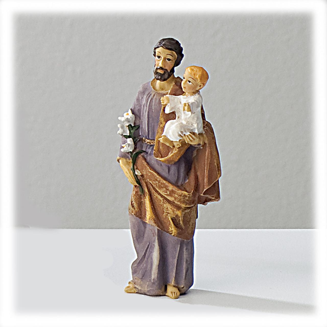St Joseph 4 Inch Resin Statue