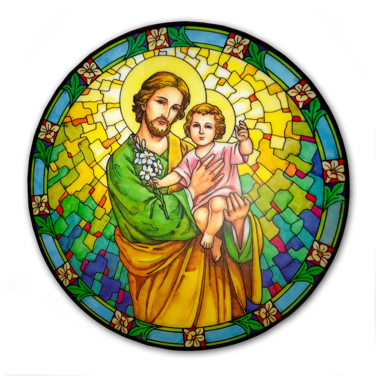 Saint Joseph Window Sticker Suncatcher for Glass