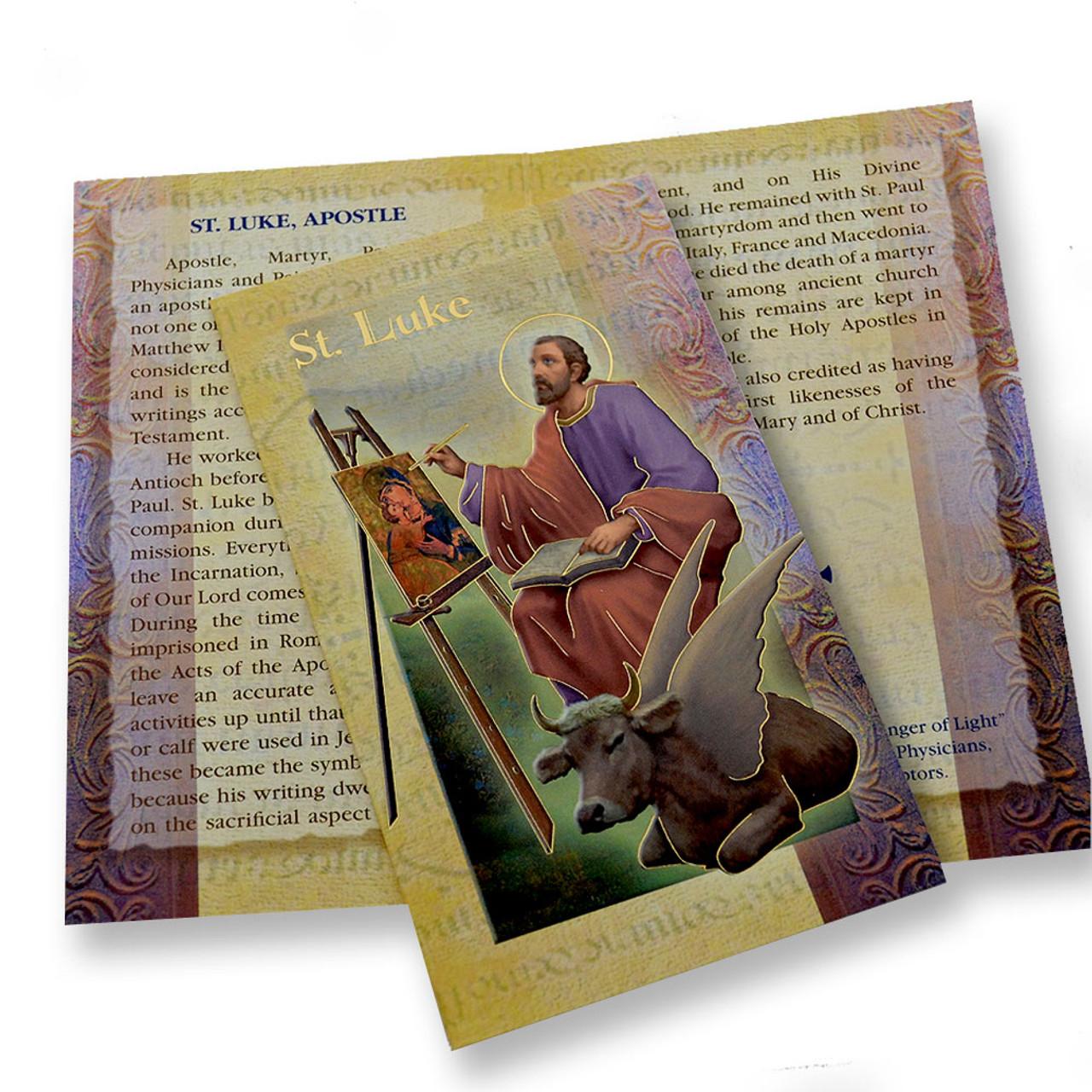 St. Luke Folded Holy Card