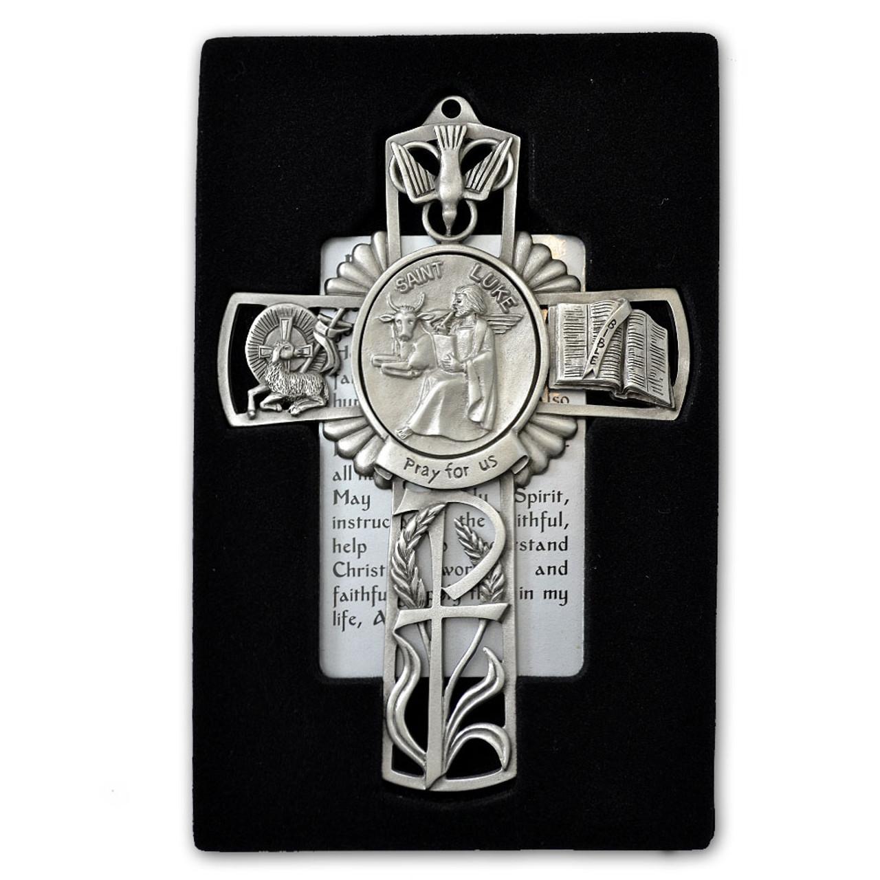 St Luke Pewter Cross