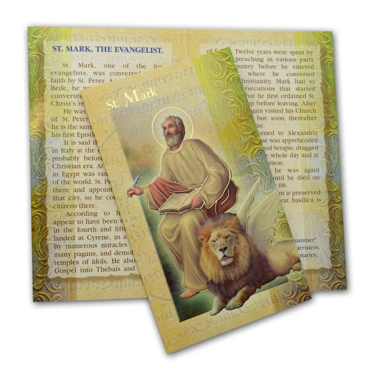St Mark Mini Lives Bio Prayer Pamphlet
