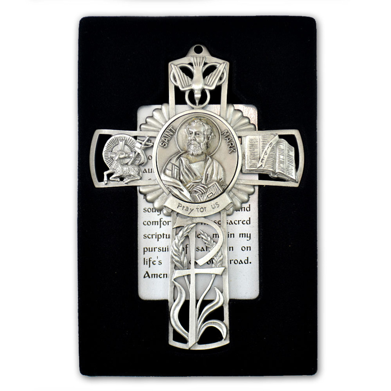 St Mark Pewter Cross