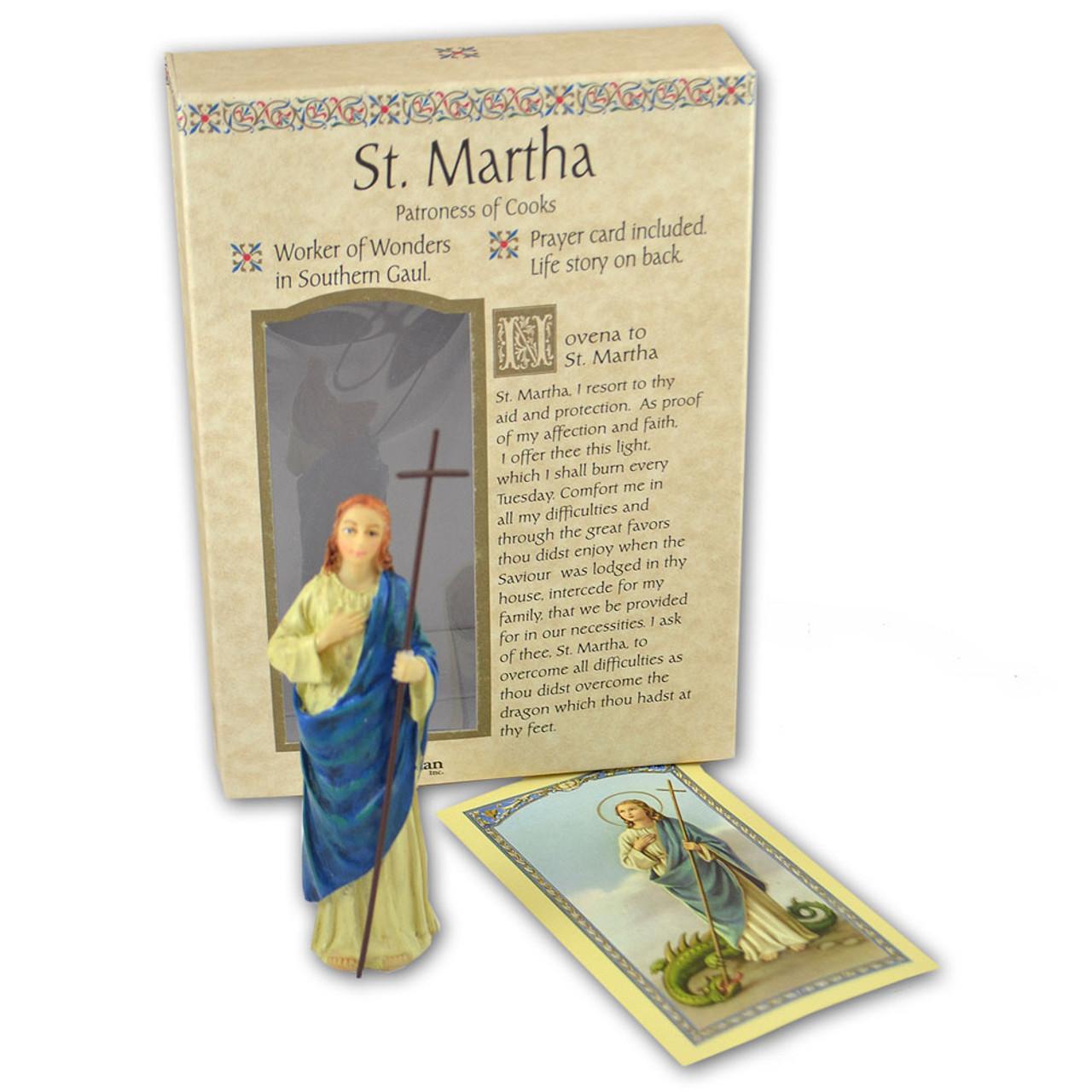 St Martha 4 Inch Resin Statue