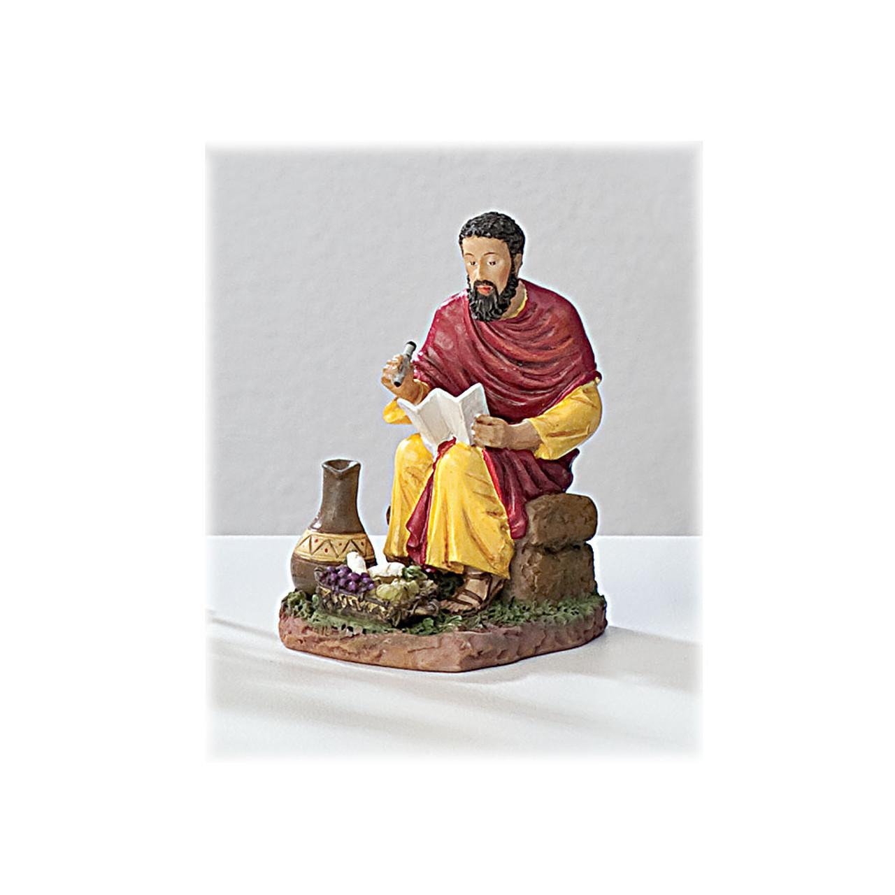 St Matthew 4 Inch Resin Statue