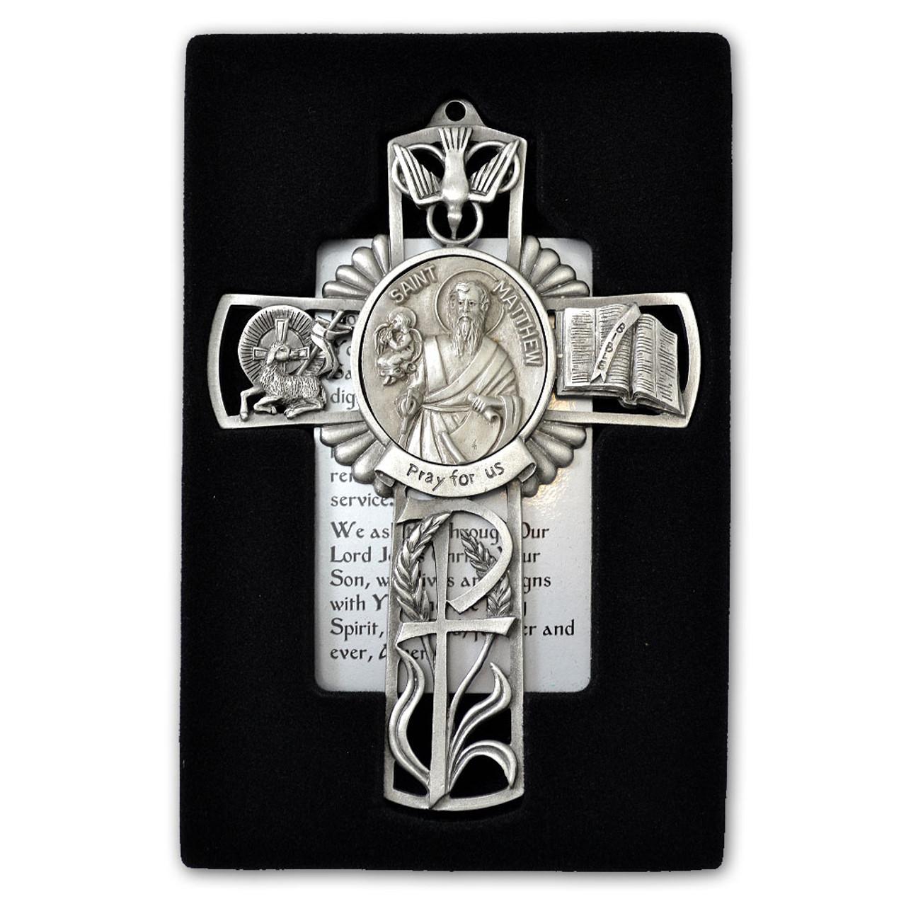 St Matthew Pewter Cross