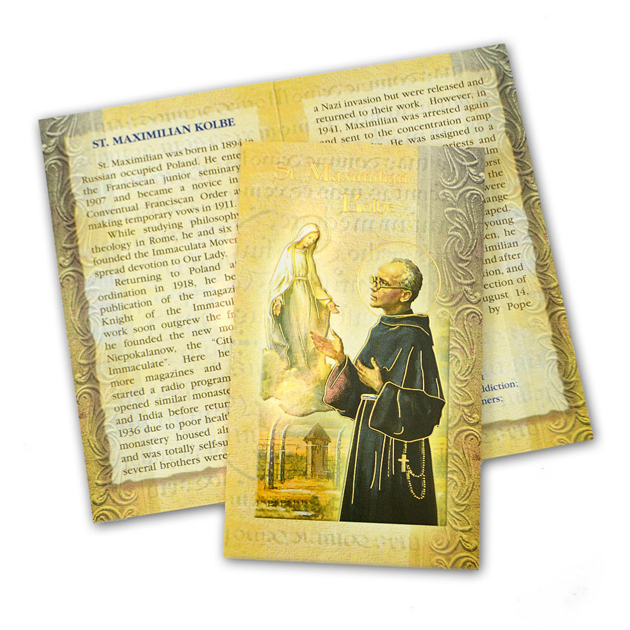 St. Maximilian Kolbe Folded Holy Card