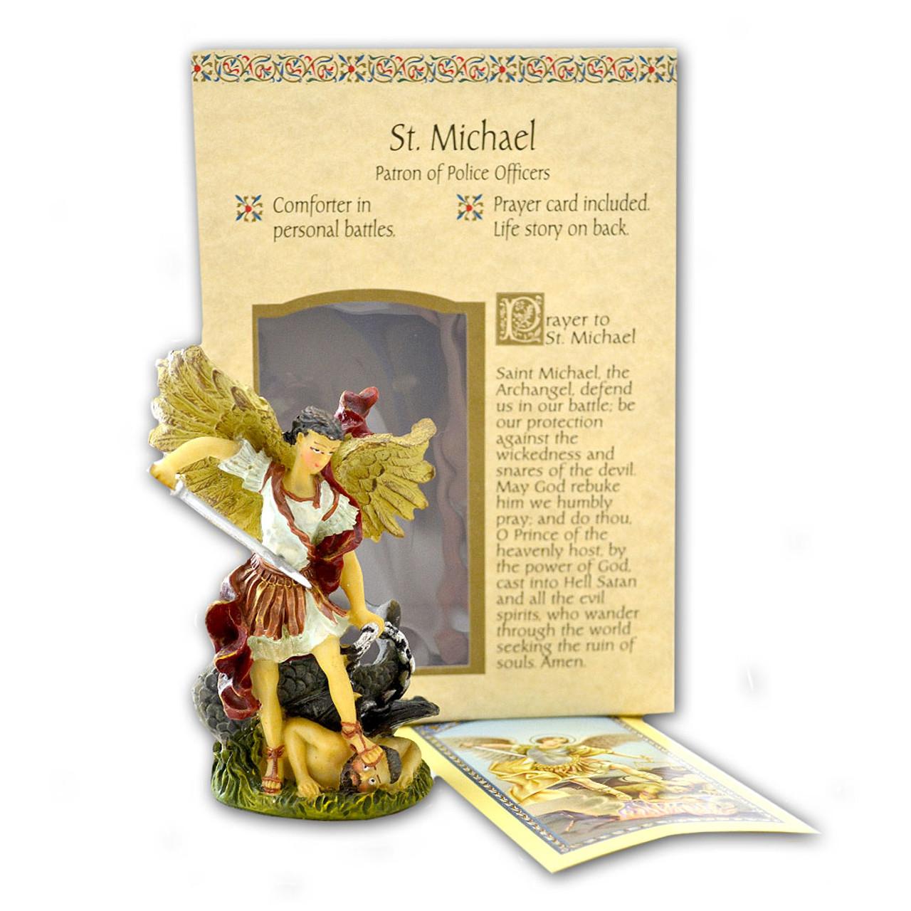 "St. Michael Resin Statue 4"""
