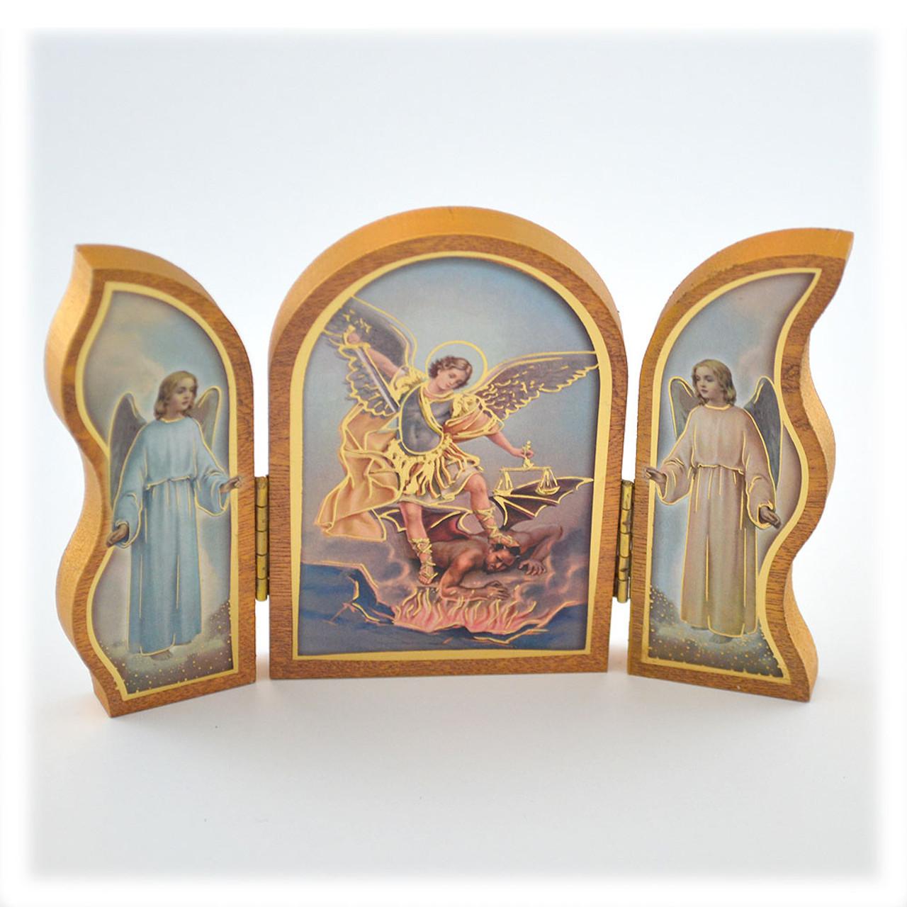 St Michael Icon Triptych