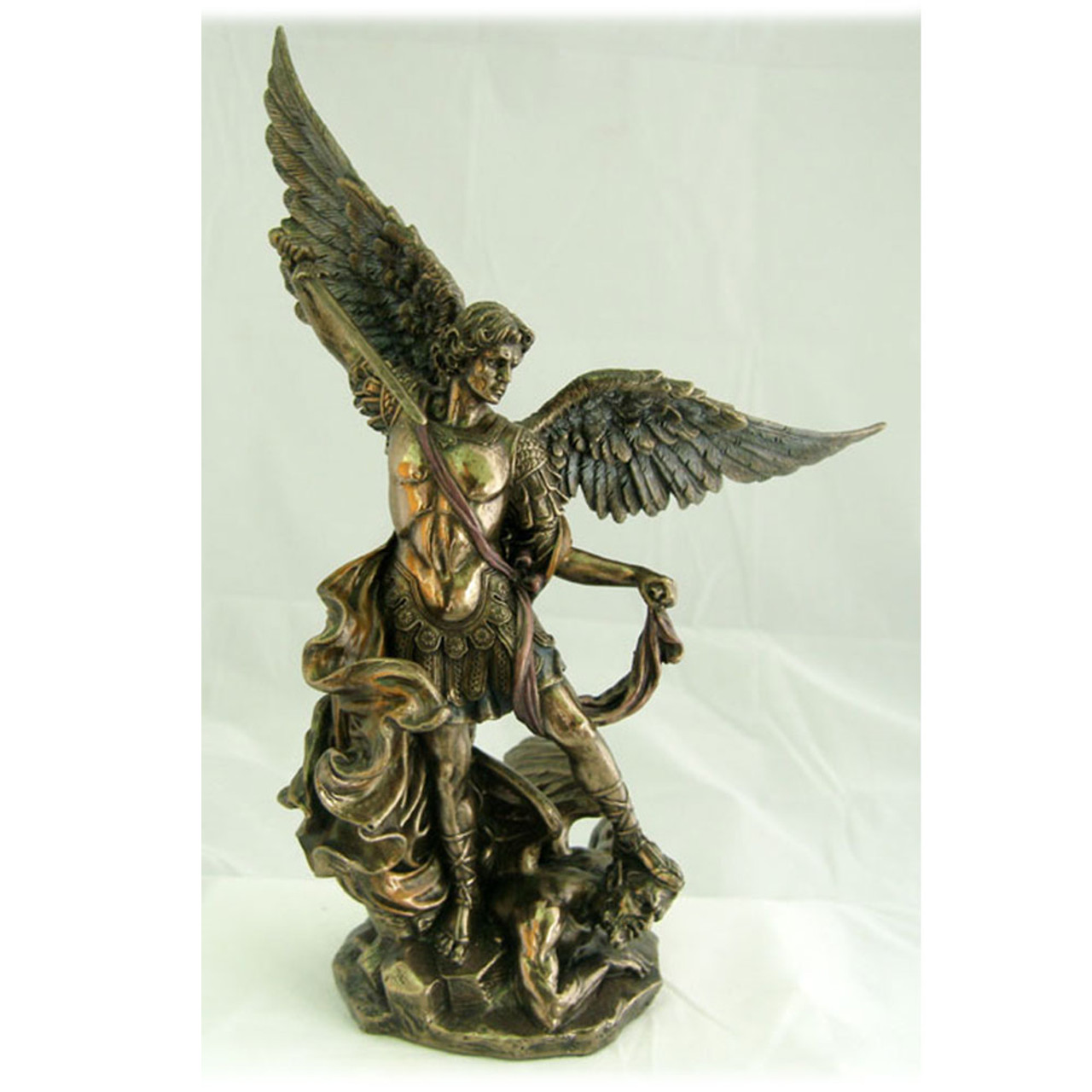 St. Michael 10IN Bronzed Resin