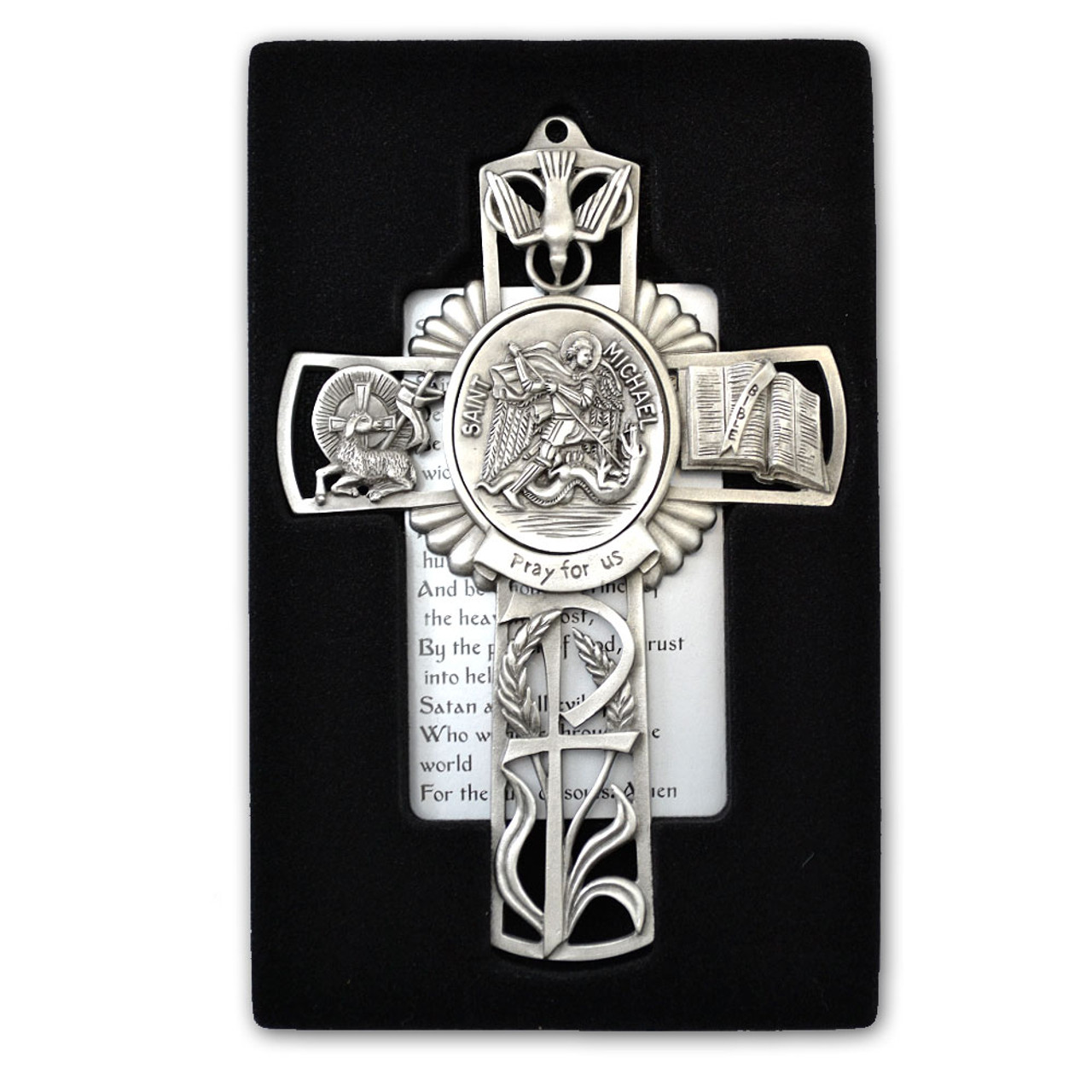 St Michael Pewter Cross