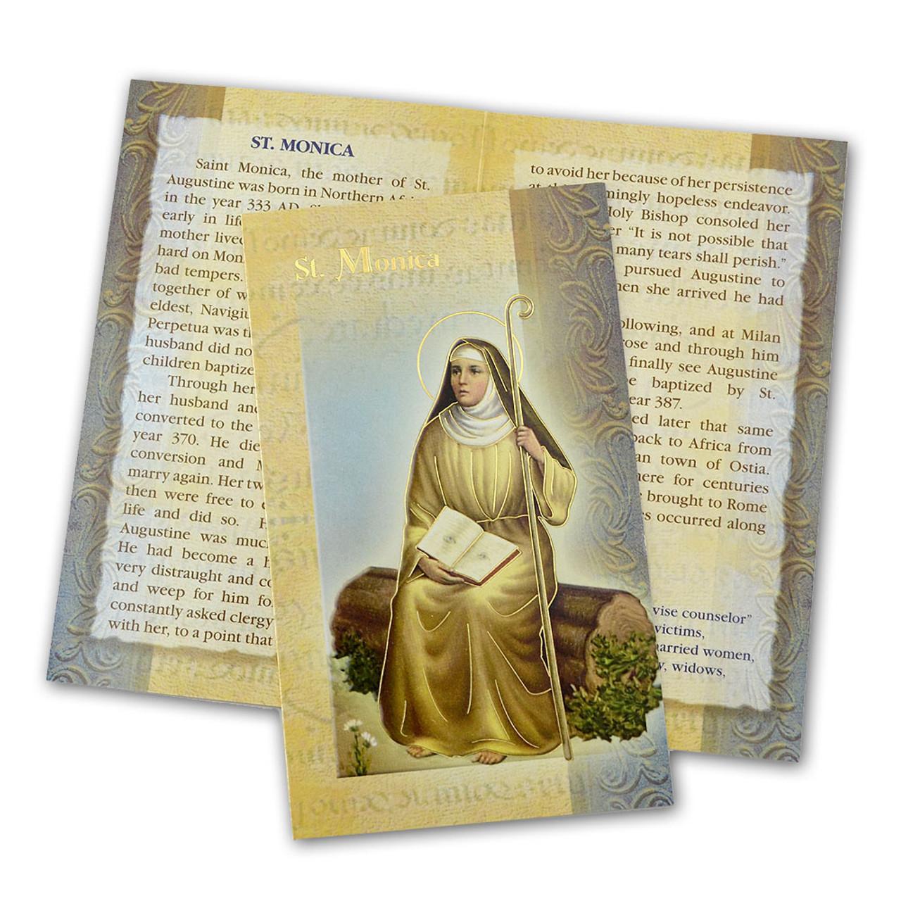 St. Monica Folded Holy Card