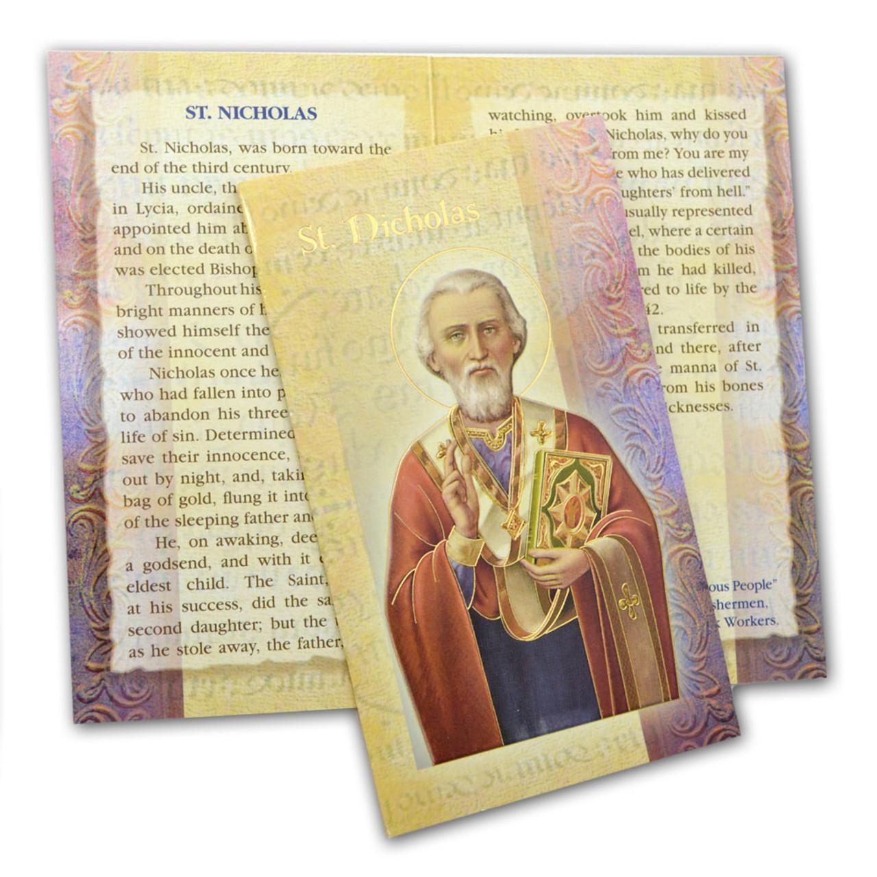 St. Nicholas Folded Holy Card