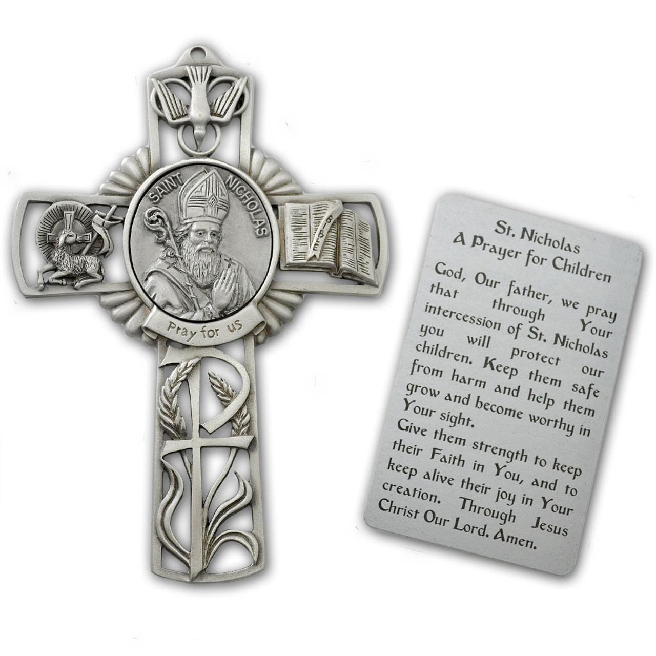 St Nicholas Pewter Cross