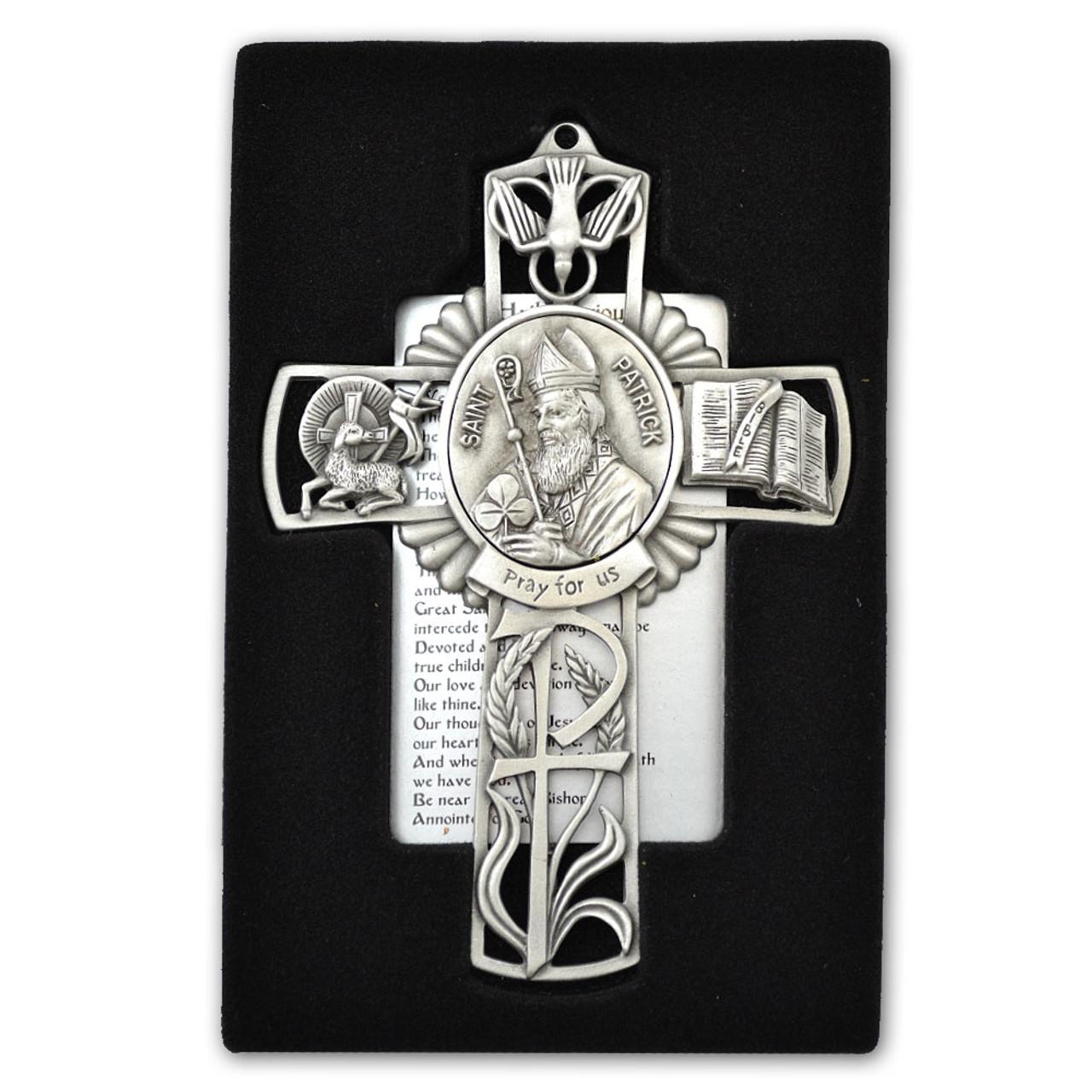 St Patrick Pewter Cross