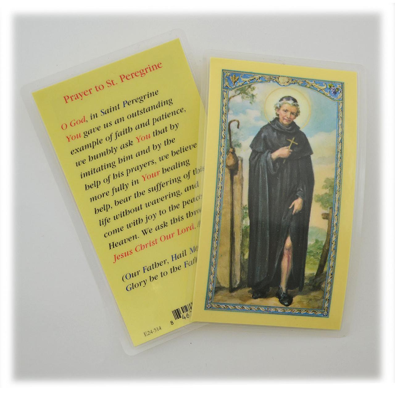 St Peregrine Prayer - Laminated Prayer Holy Card