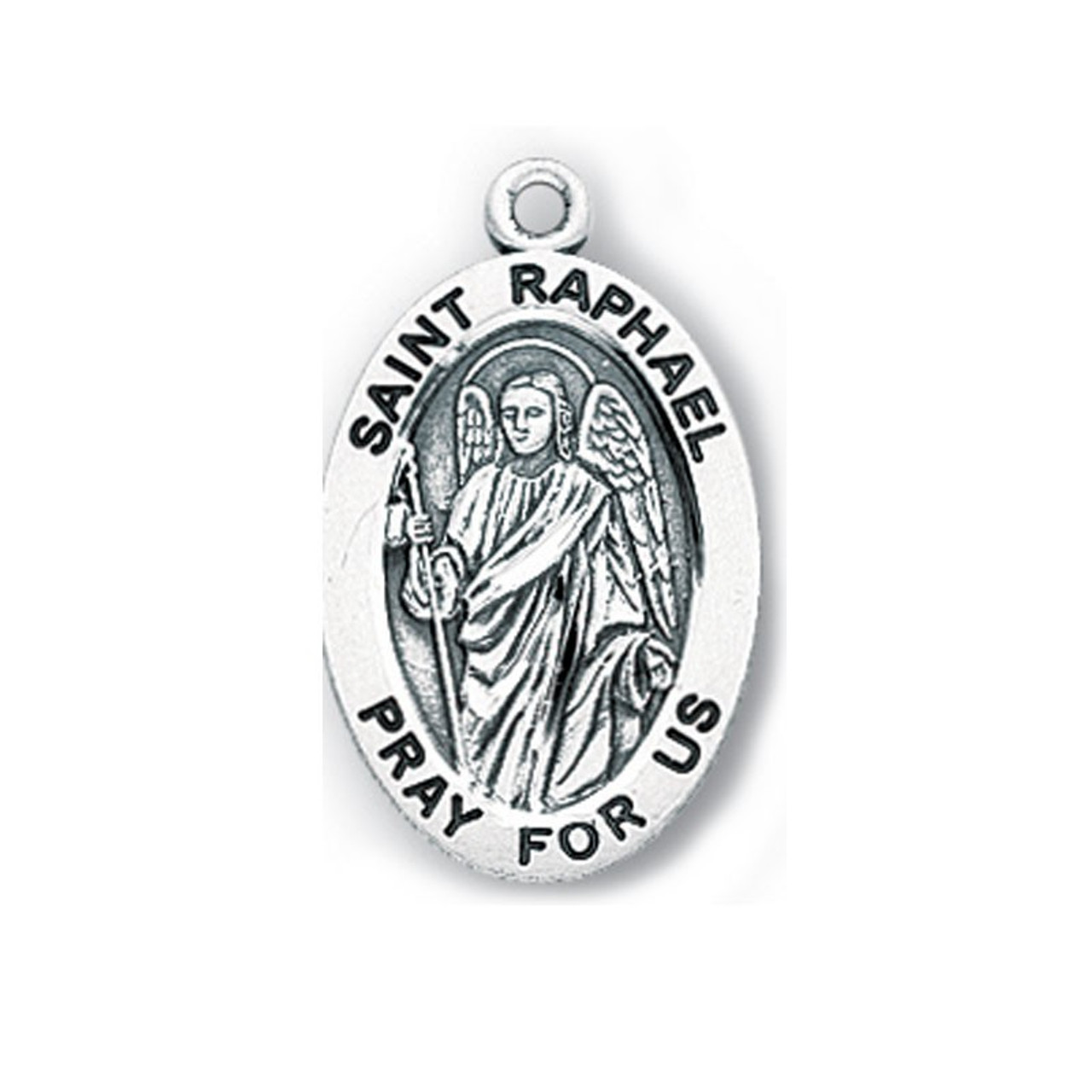 Small St. Raphael Medal Necklace