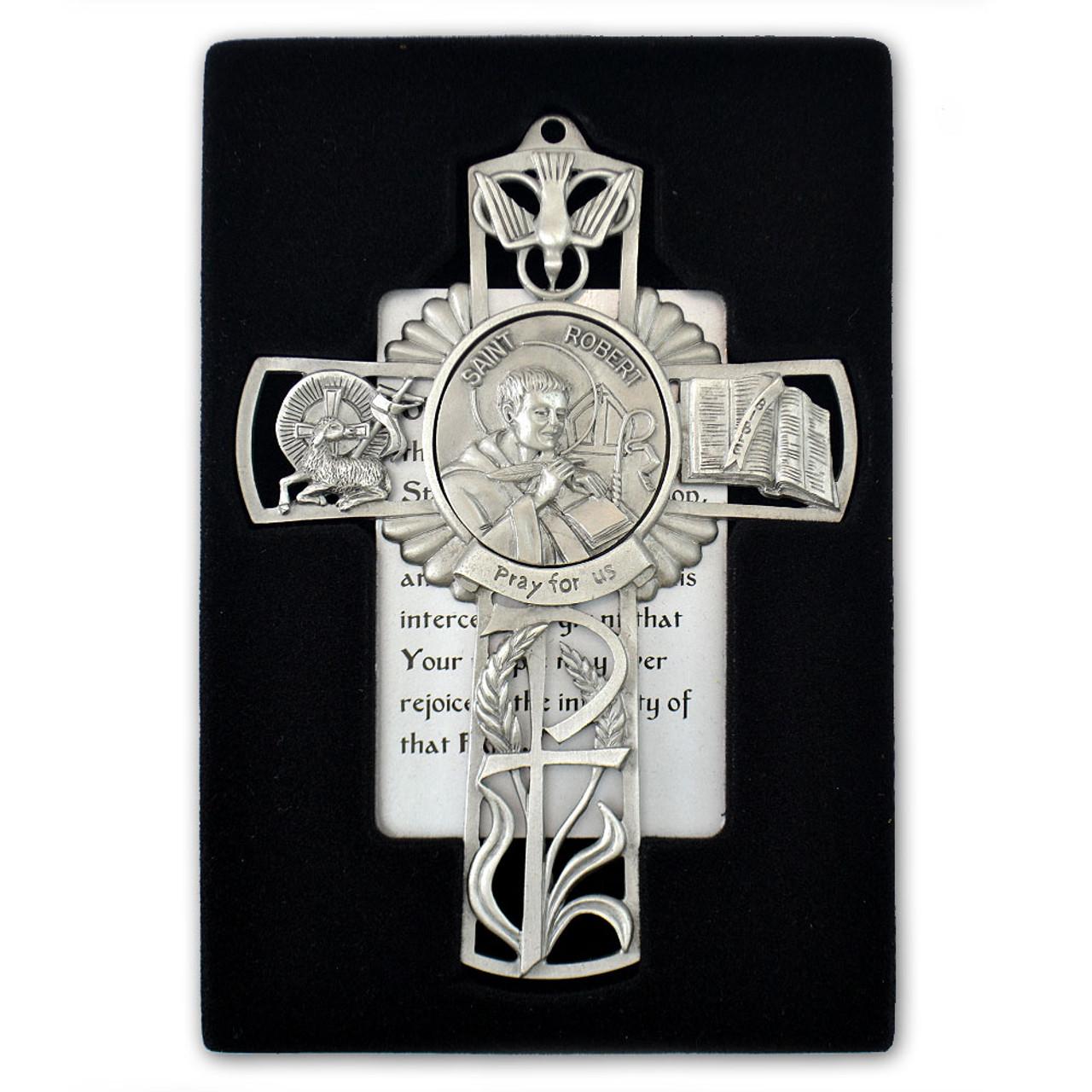 St Robert Pewter Cross