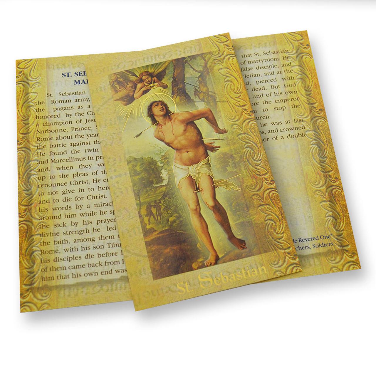 St. Sebastian Folded Holy Card