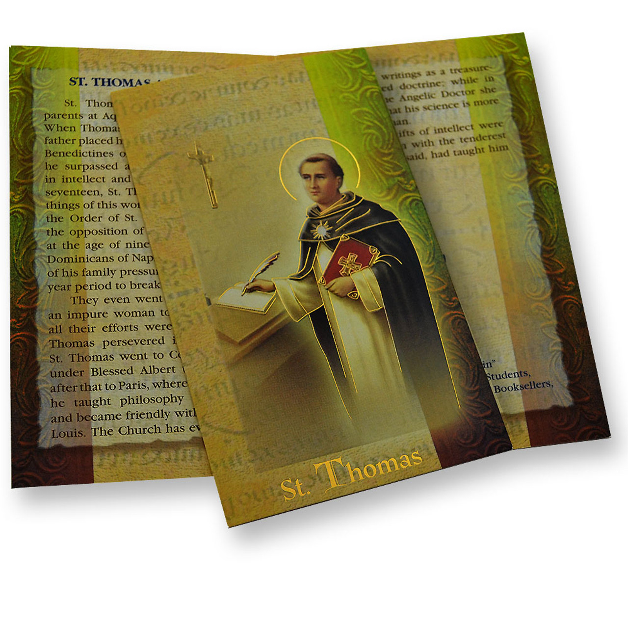 St. Thomas Aquinas Folded Holy Card
