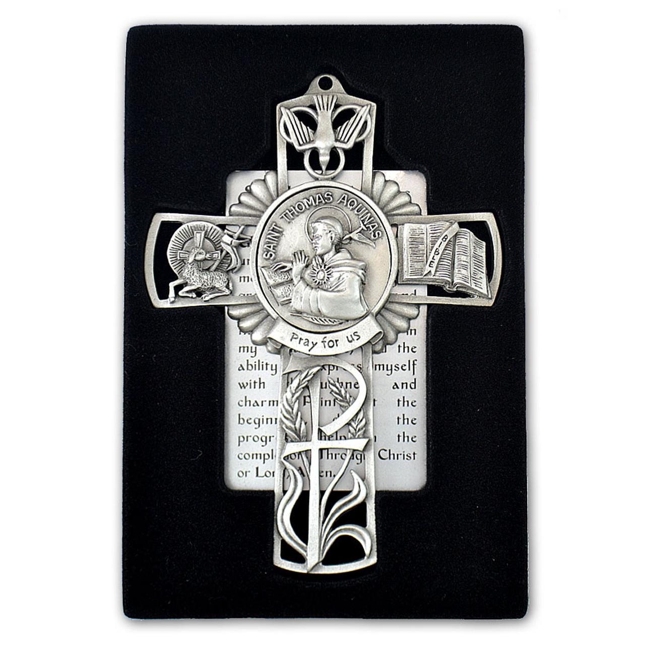 St Thomas Aquinas Pewter Cross