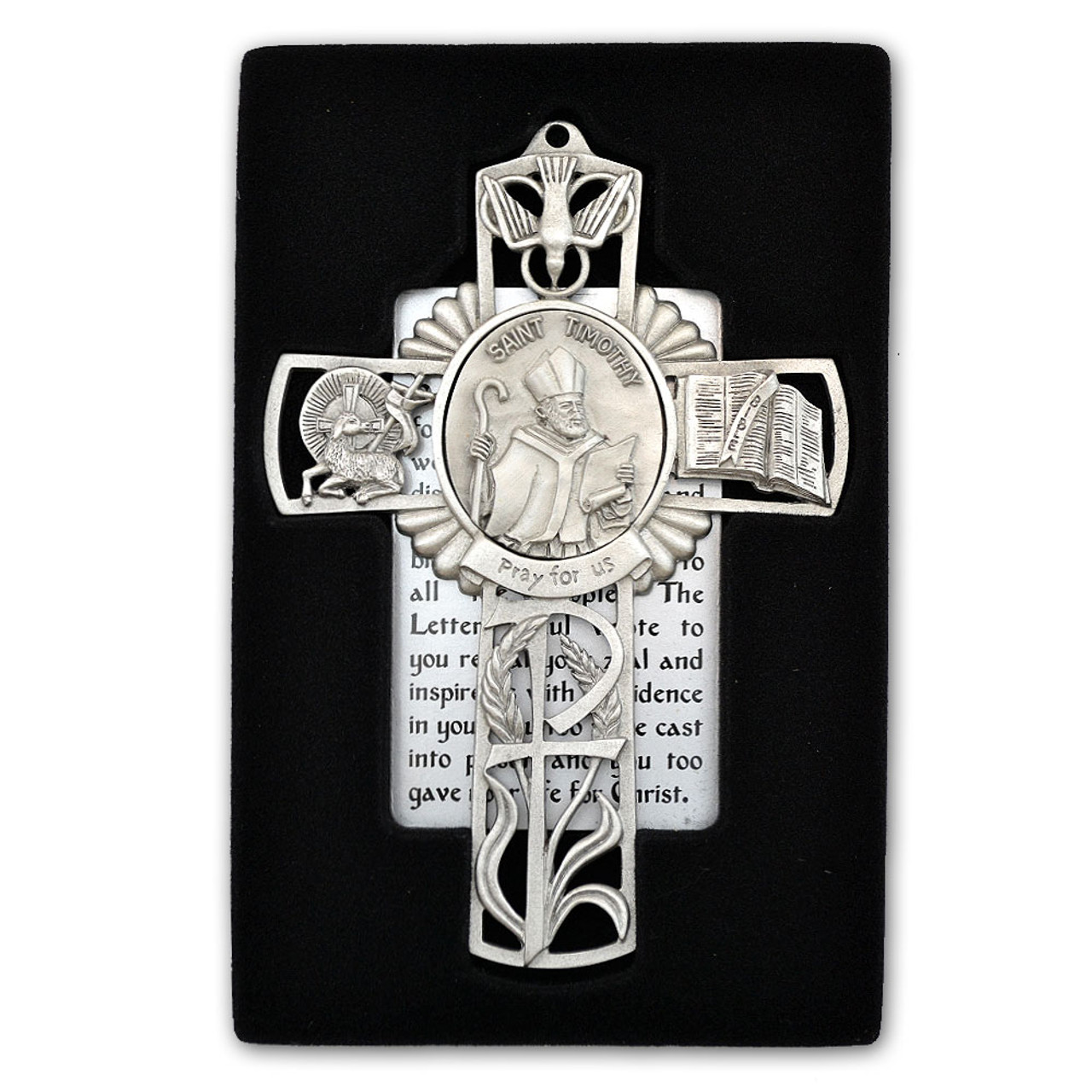 St Timothy Pewter Cross