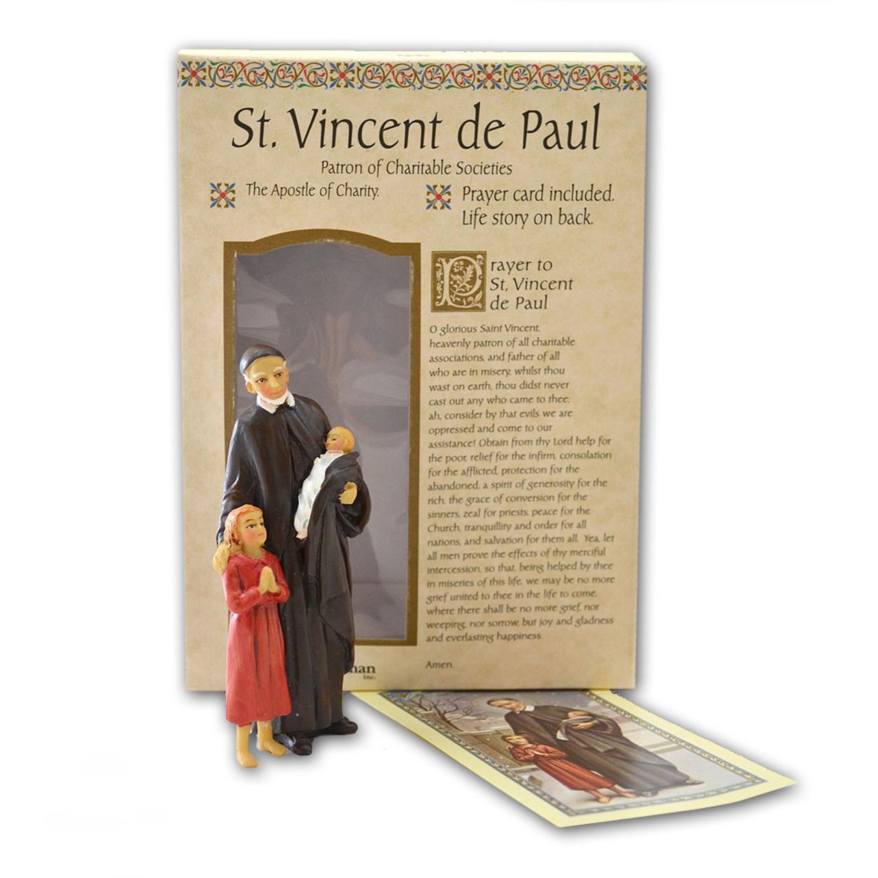 St Vincent de Paul 4 Inch Resin Statue