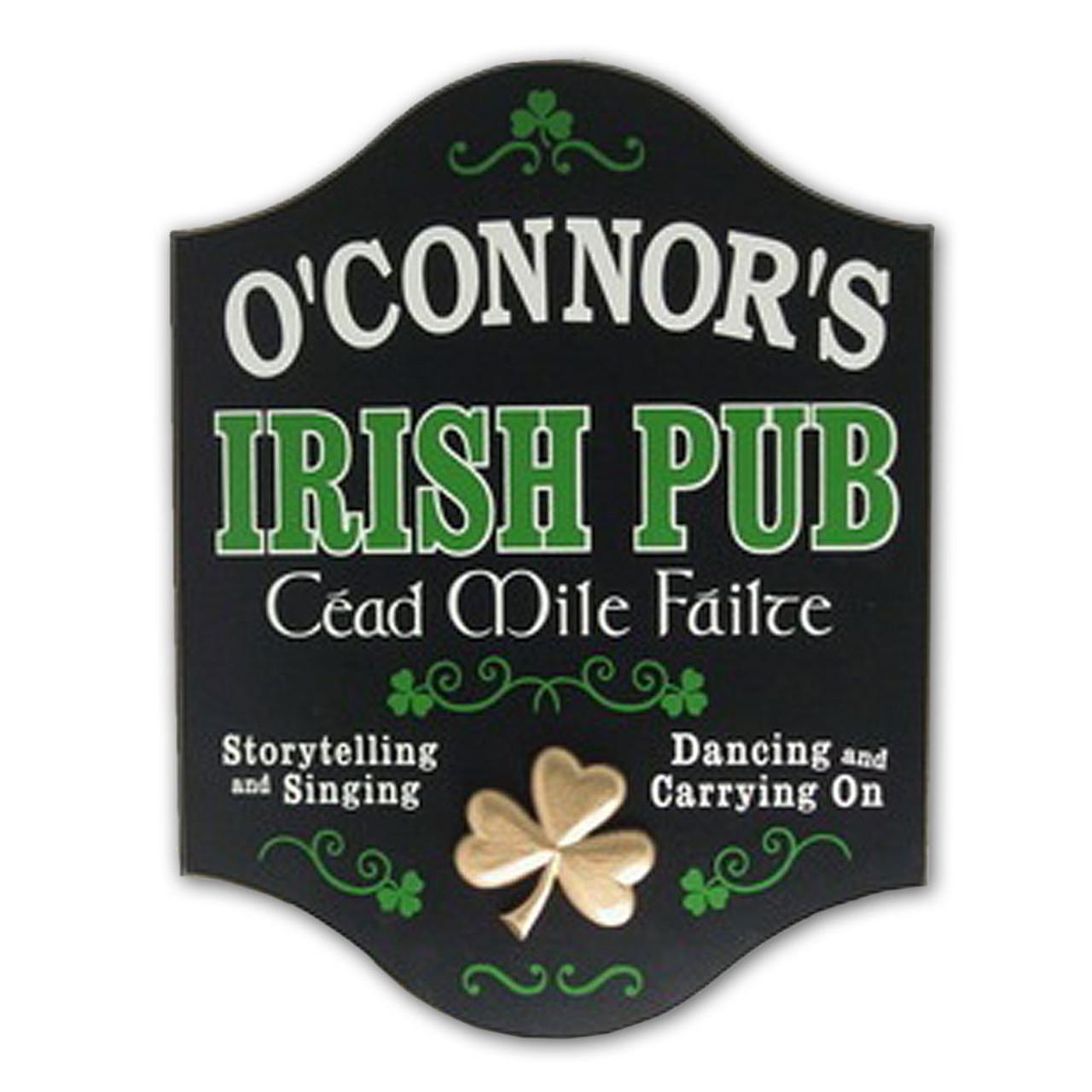 Cead Mile Failte Personalized Irish Pub Plaque