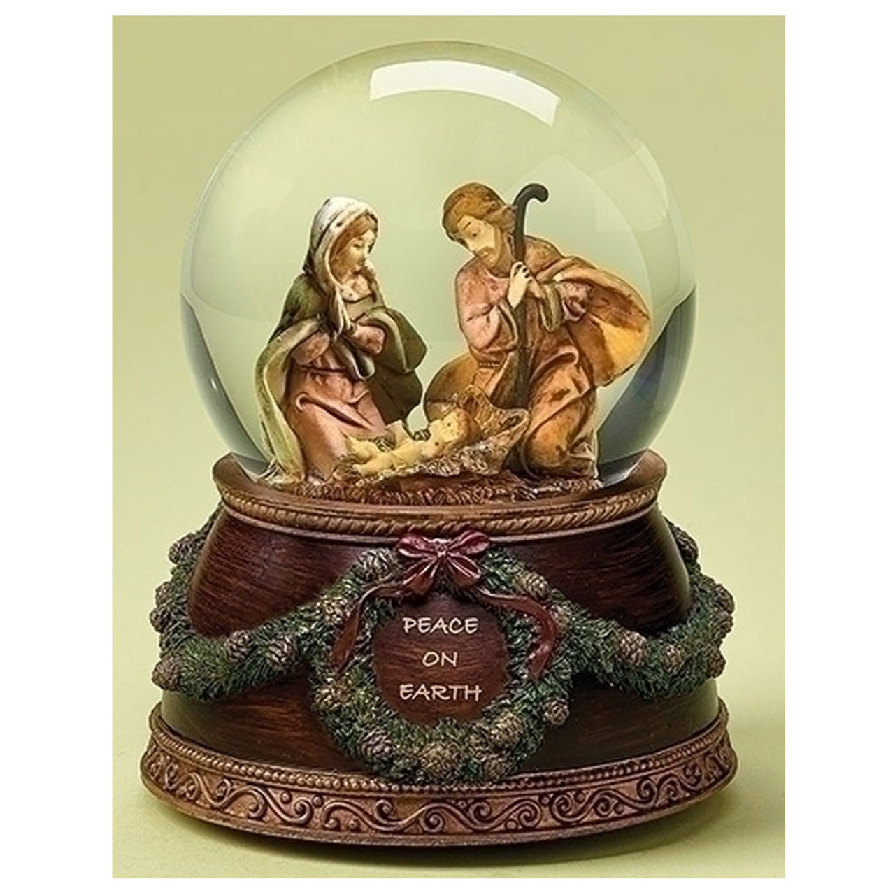Fontanini Holy Family Musical Glitterdome 6IN