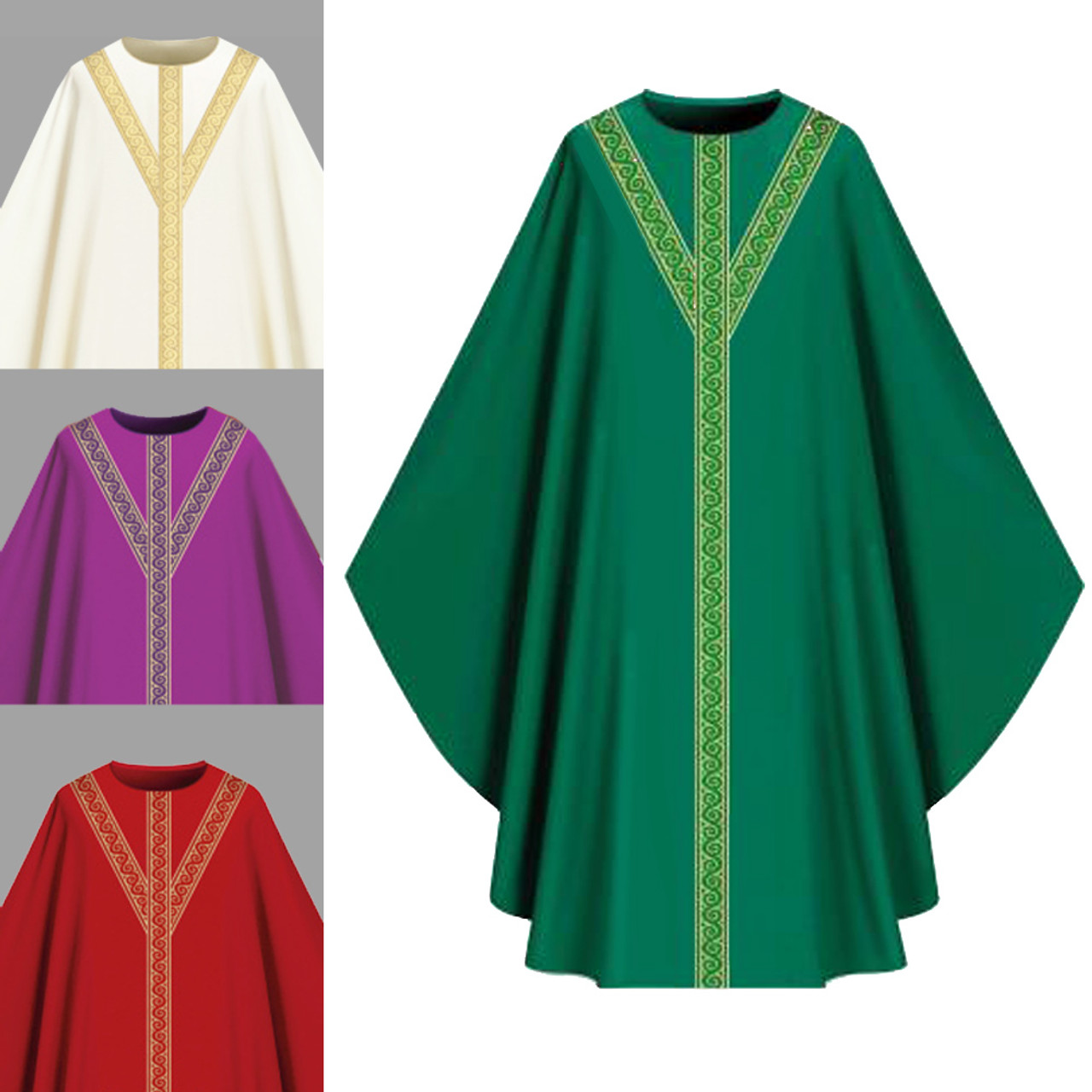 701053 Green Assisi Chasuble