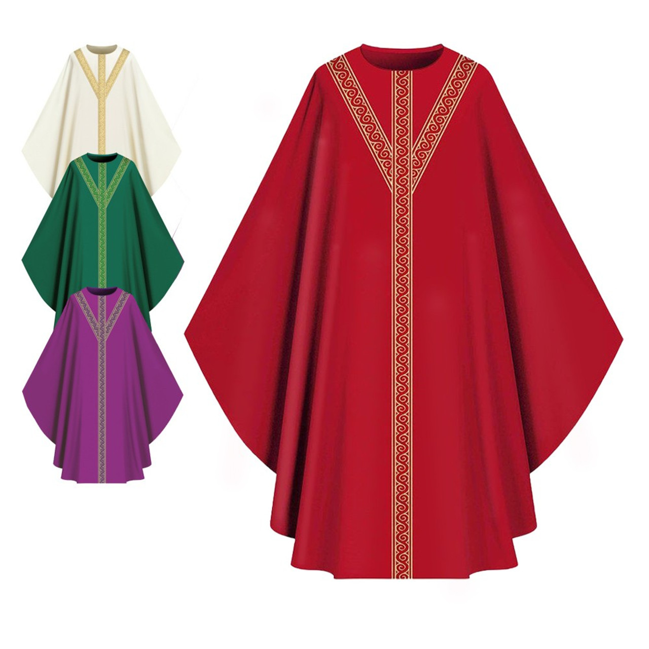 701052 Red Assisi Chasuble